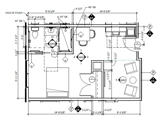 Linglestown Large Studio Floorplans