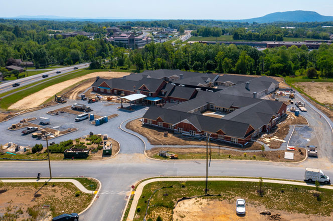 New Assisted Living - Under Construction - Aerial View