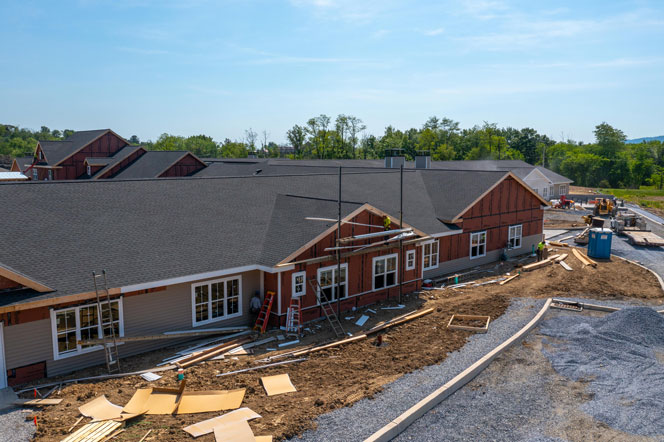 New Assisted Living - Under Construction - Side View