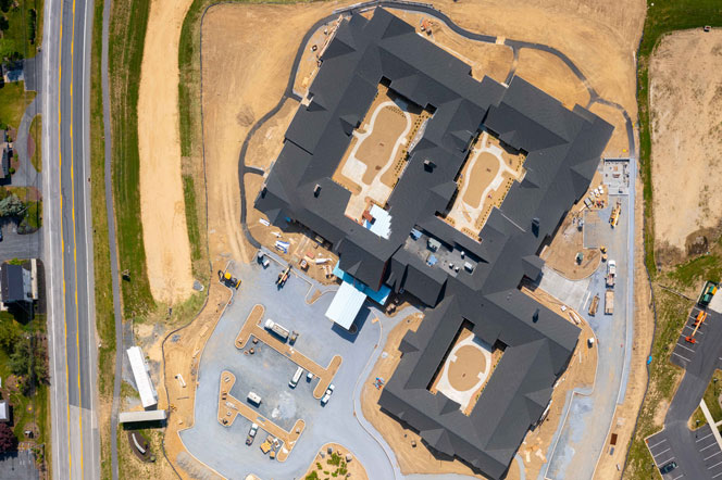 New Assisted Living - Under Construction - Overhead View