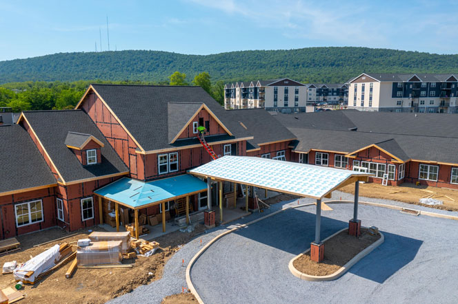 New Assisted Living - Under Construction - Entrance to new Building
